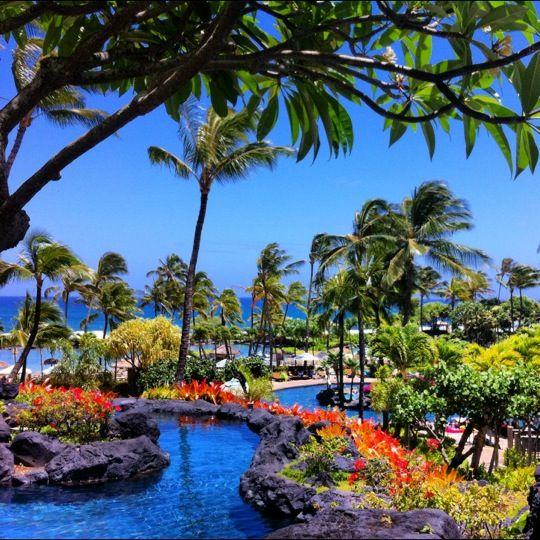 Grand Hyatt Kauai Resort and Spa in Kōloa, HI: Need more than one cocktail? Try the mai tai at this resort in Koloa