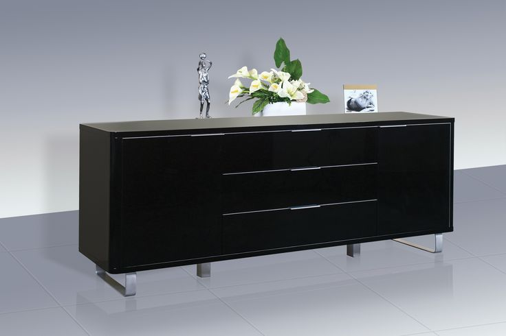 Sideboard with 2 Doors and 3 Drawers. L1500mm x W390mm x H700mm
