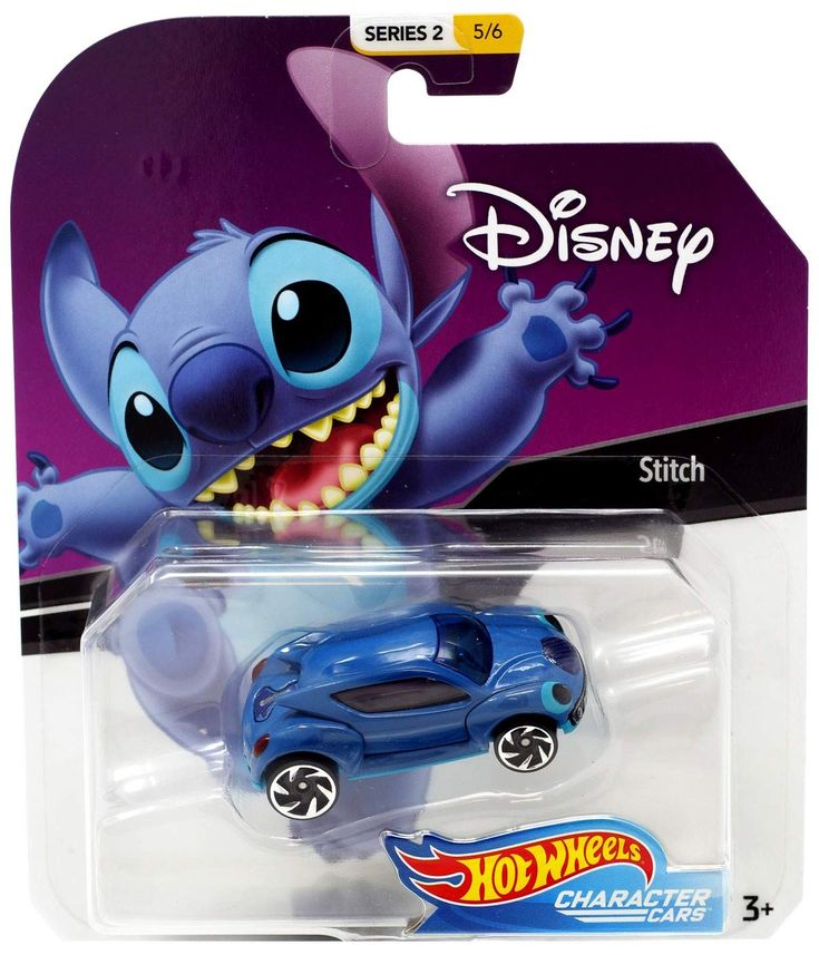 Hot wheels character cars disney stich vehicle series 2 5