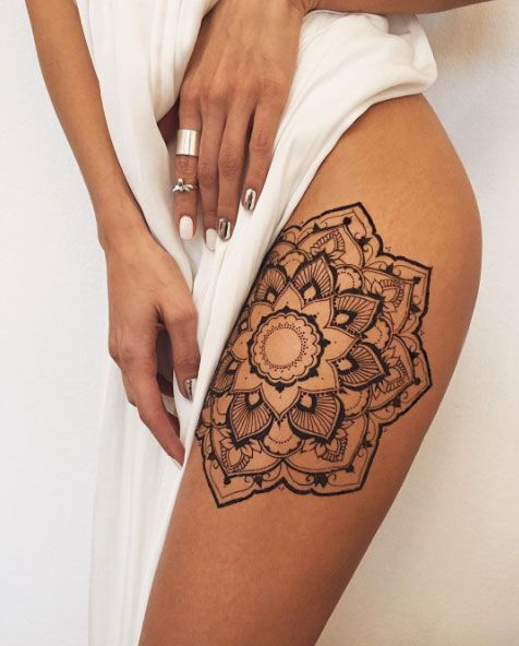 17 best ideas about mandala thigh tattoo on pinterest thigh piece thigh tattoos and hip thigh. Black Bedroom Furniture Sets. Home Design Ideas