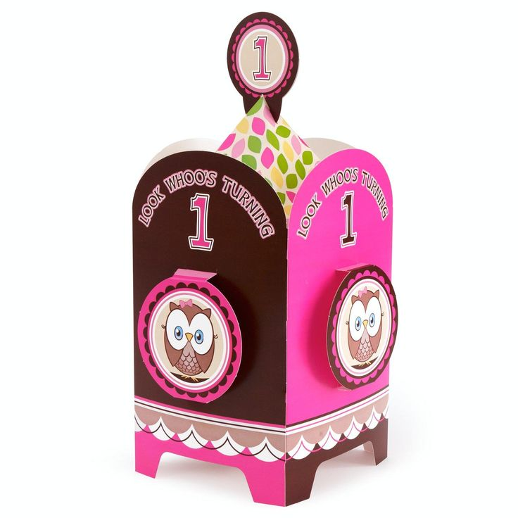 Look Whoo's 1 Pink Centerpiece from BirthdayExpress.com