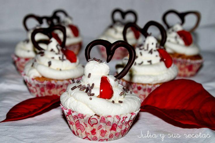 CUPCAKES DE ALMENDRA (Aptos para celiacos) Especial día de los enamorados