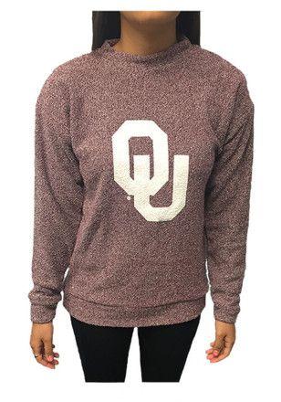 Oklahoma Sooners Womens Original Red Crew Sweatshirt