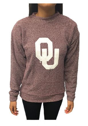 Oklahoma Sooners Womens Original Red Crew Sweatshirt