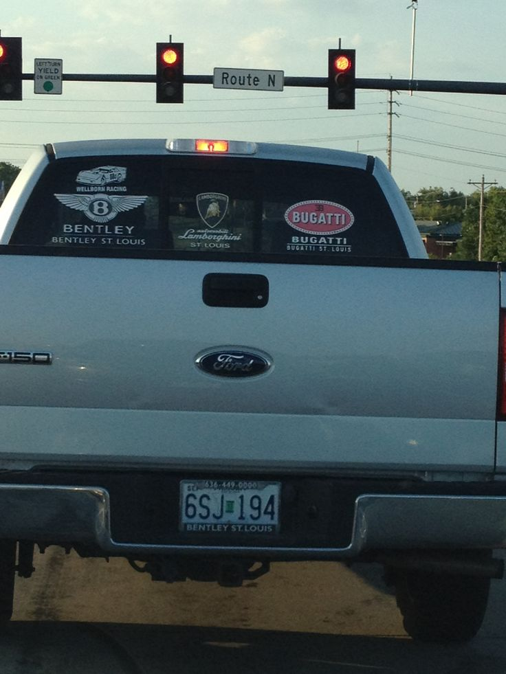 Not a member of the Red BO Gallery...and apparently even a bentley dealership needs a Ford F-150!!!