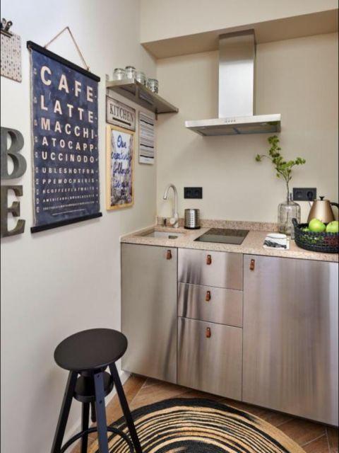 Kitchen design with amazing decoration.
