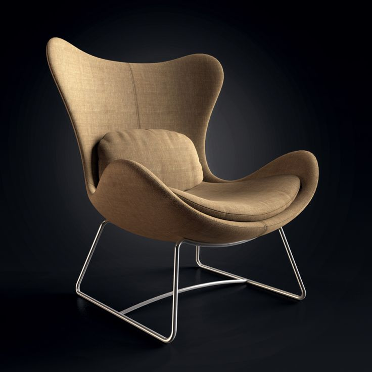 Crisp and clean chair render by Esben Oxholm.