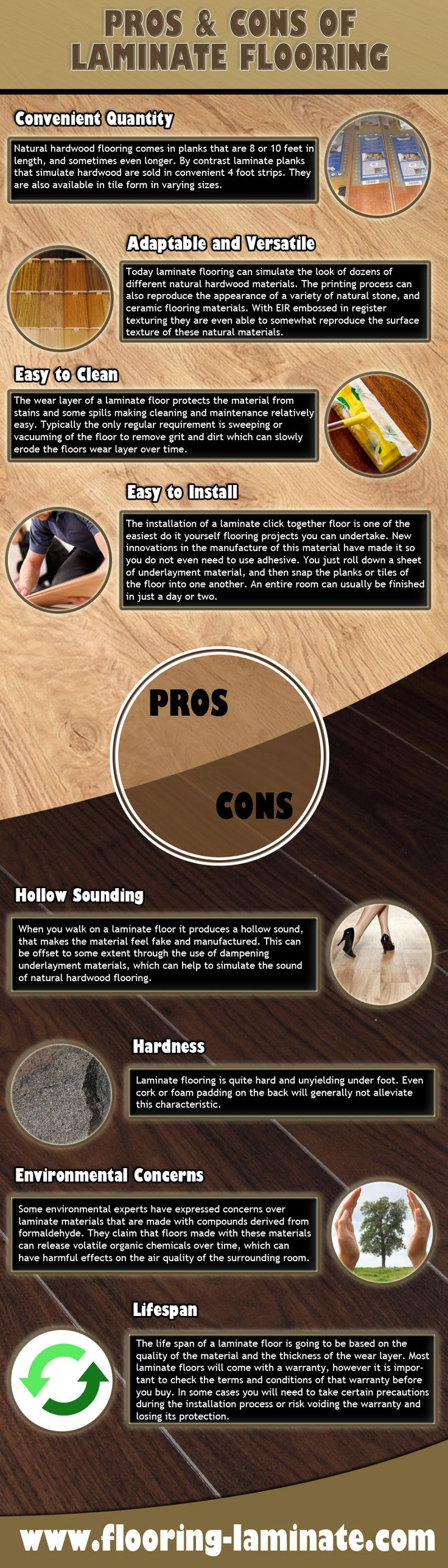 Laminate flooring pros cons