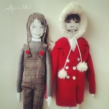 personalised handmade fabric dolls with printed faces