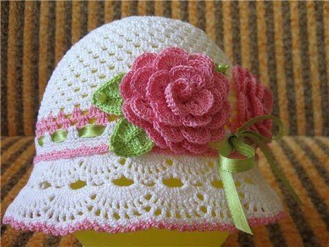 ☆Шапочка-панама, вязание крючком для начинающих, crochet. - YouTube