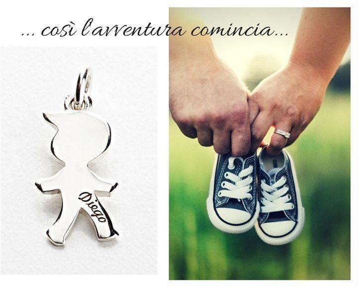 Ciondoli I Bimbi in argento personalizzabili con incisione! Acquista online sul nostro Shop www.etrarte.it