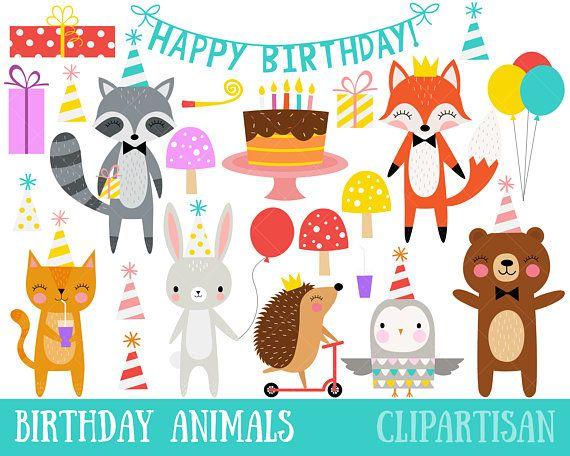 Birthday Party Clipart Woodland Animals Party Etsy Ideias Para Decoracao De Festa Infantil Ideias Para Decoracao De Festa Decoracao Festa Infantil