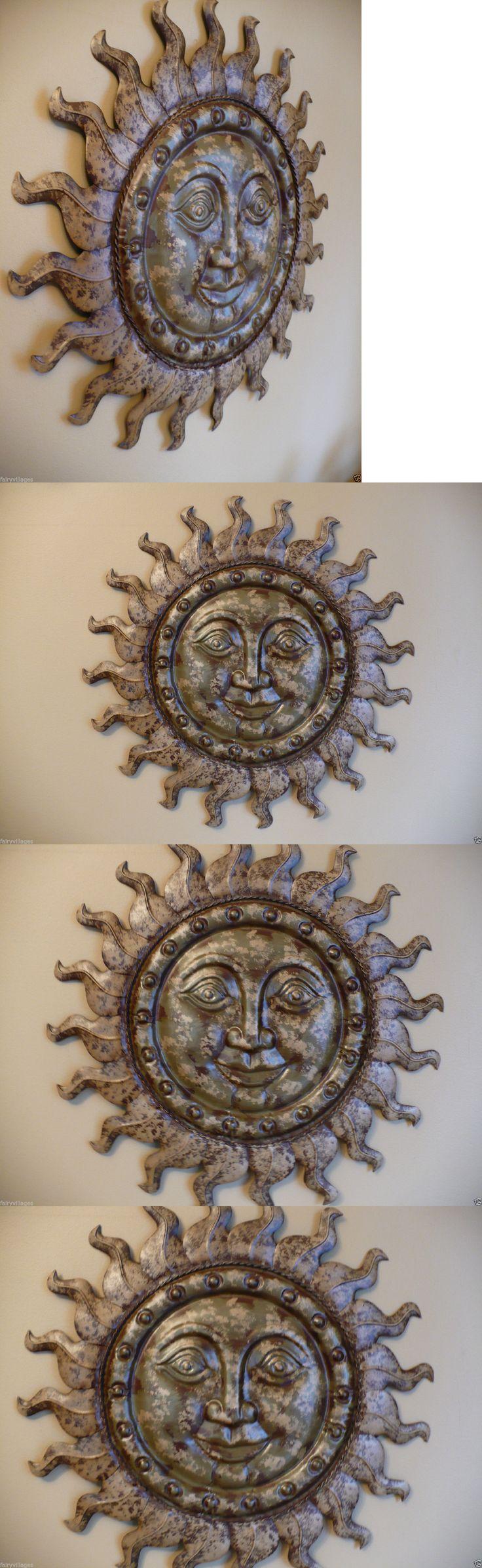 Garden wall plaque - Garden Plaques And Signs 75592 Metal Sun Face Wall Plaque Art 19 75 In Garden