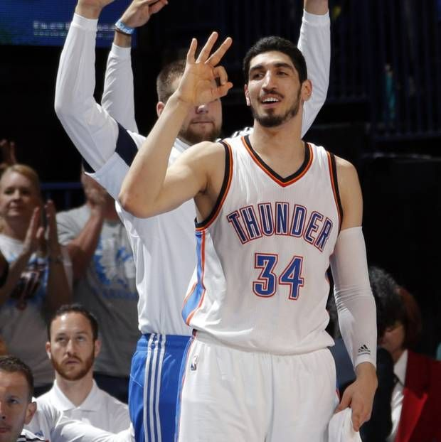 Thunder center Enes Kanter will be a restricted free agent following this season.                                                                             Photo by Sarah Phipps, The Oklahoman