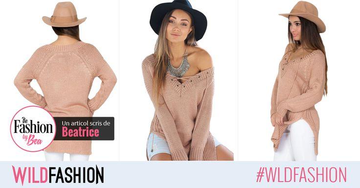 Daca tot ne forteaza vremea sa purtam pulovere, putem sa profitam si sa alegem modele cool ca acesta: