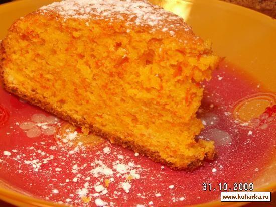 Морковный пирог с ягодой