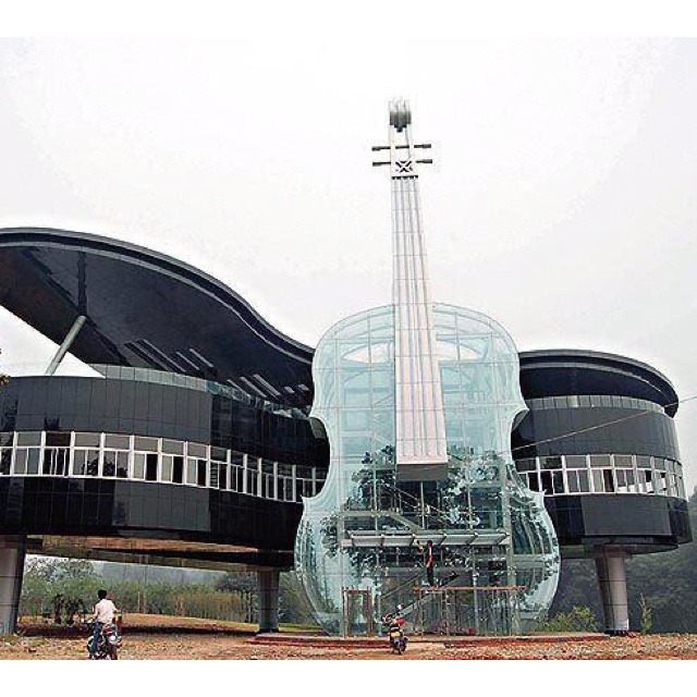 What a cool music school! The Piano House, China.   Piano and ...