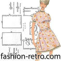 """Платье """"татьянка"""". Платье с прилегающим лифом, отрезное по линии талии, юбка собрана в сборку. Рукава – фонарики. Платье отделано бейкой из гладкой ткани и кружевом «шитье». Платье может быть выполнено из набивного шелка, ситца, сатина или поплина."""