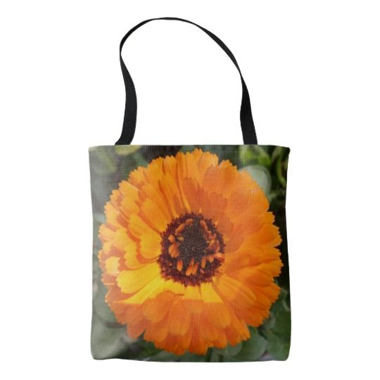 #zazzle #girl  #woman #gift  #giftidea  #Tote #Bag  #Orange #Flower