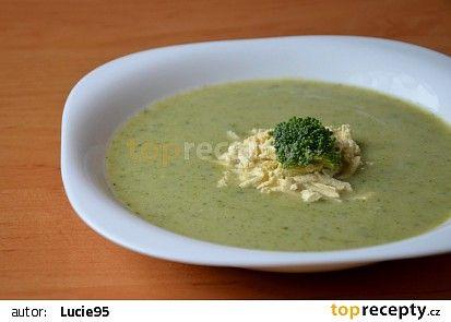 Brokolicová polévka bez zahuštění s tofu nudlemi recept - TopRecepty.cz