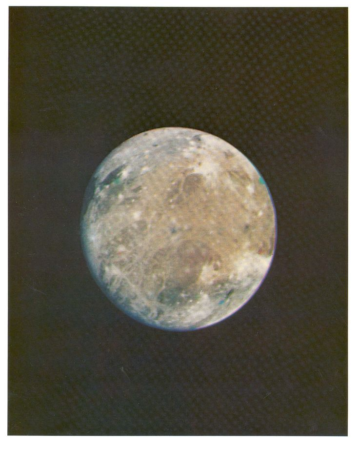 https://flic.kr/p/fqB8Aw   Voyager 1 Image of Ganymede   Voyager 1 took this picture of Ganymede from a distance of 1.6 million miles. Ganymede is Jupiter's largest satellite with a radius of approximately 2600 kilometers, about 1.5 times that of Earth's Moon. Ganymede is the seventh and largest of Jupiter's known satellites and is the third of the Galilean moons. Discovered in 1610 by Galileo and Marius, Ganymede is the largest satellite in the Solar System. It was named after the Greek…