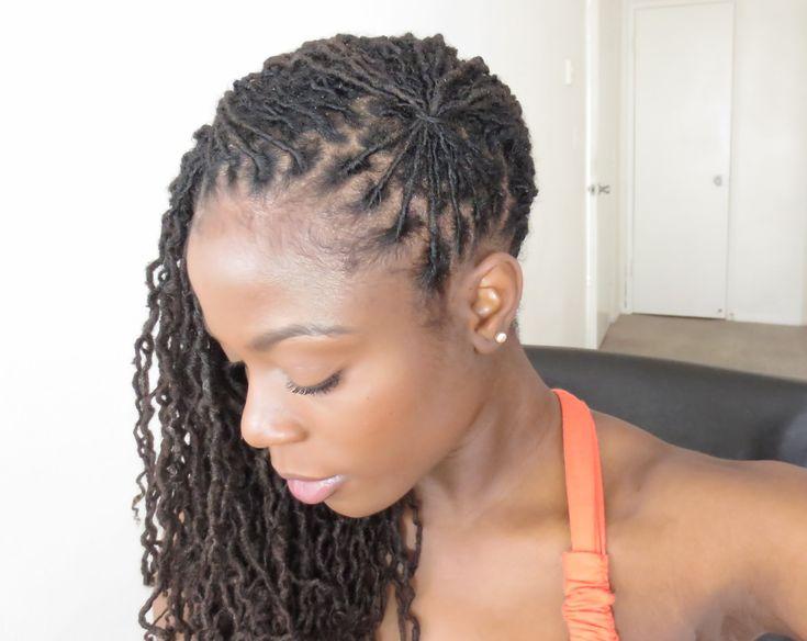 loc hairstyle tutorial fan
