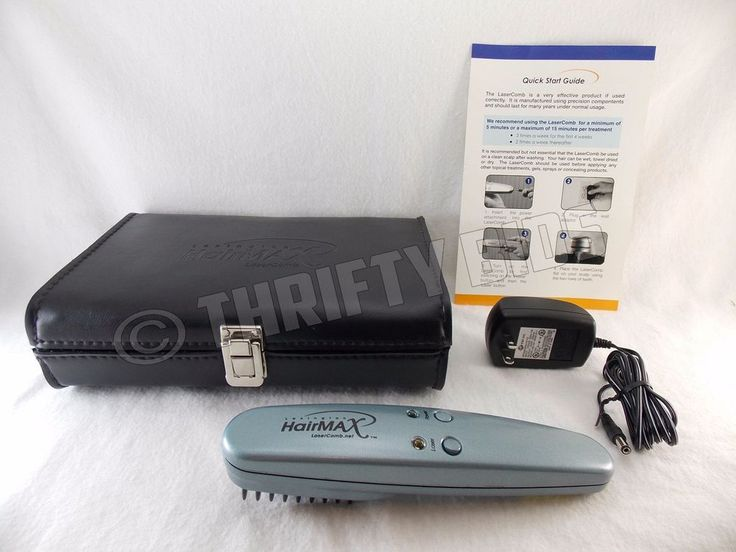 Lexington HairMax SE Laser Comb AC Adapter Guide & Case HMAX LaserComb Tested #Lexington