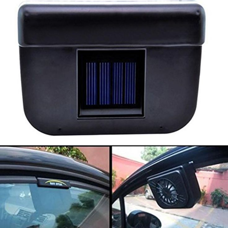 Portable Solar Powered Car Window Windshield Auto Air Vent Cooling