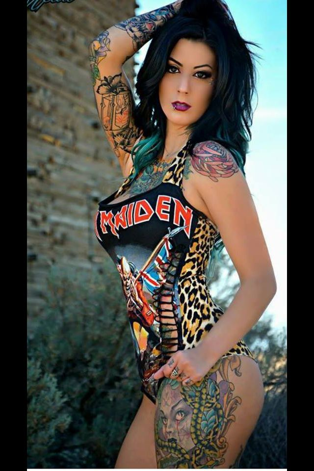 23 best images about glam metal fashion on pinterest for Hot tattooed babes