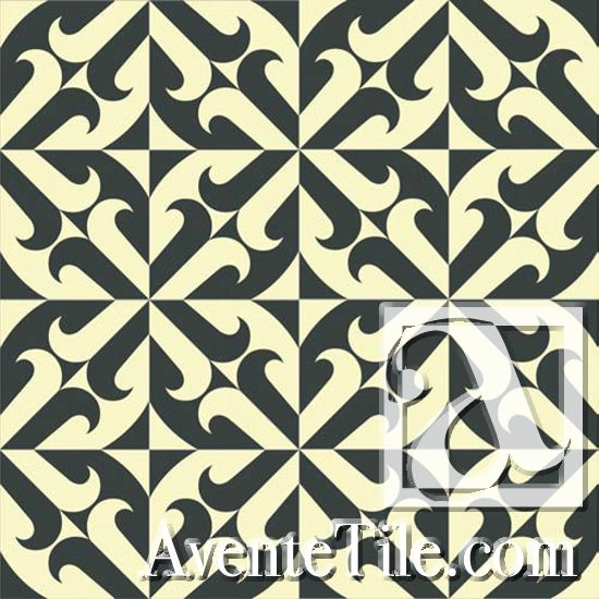 "Cuban-style Cement Tile. Such a stunner when laid in a pattern. Color goes solid through. Wears beautifully. Mission Santander - A 8"" x 8"""