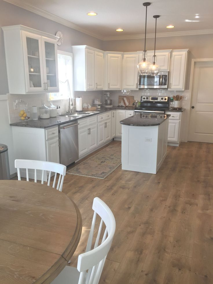 Riverbend Oak In Pergo Xp Laminate Flooring Kitchen Idea
