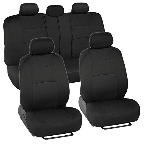 BDK Classics   Solid Black Mesh Cloth Seat Covers   Split Option Bench    Full Set. Best Car ...