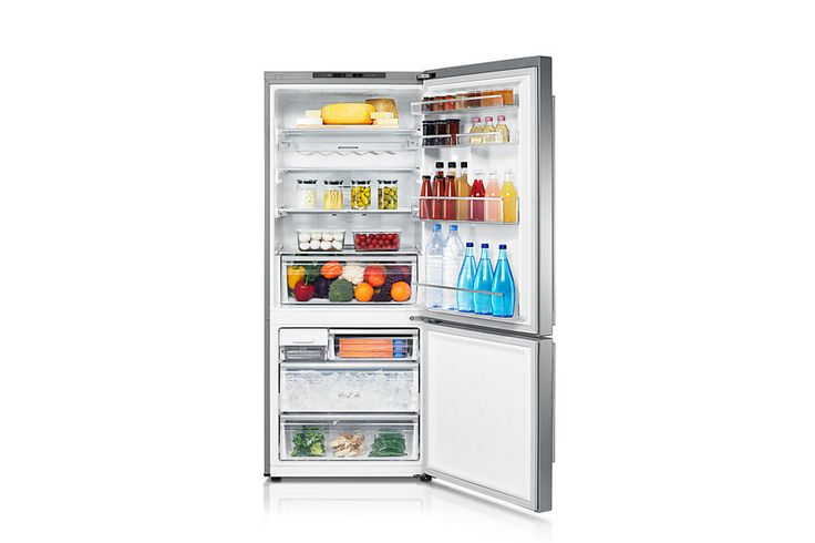 samsung SRL458ELS Front Angle-Open silver You don't even need to keep cheese in the fridge - but what about the RAW MEAT?! Where to store that?!