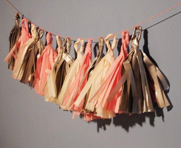 DIY : Guirlande de pompons en papier de soie