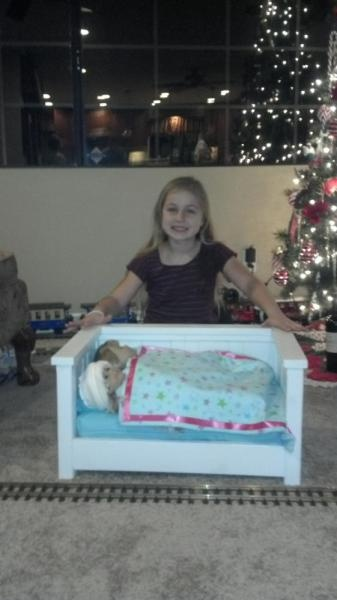 """American Girl Doll"" Daybed - Built with the Kreg Jig"