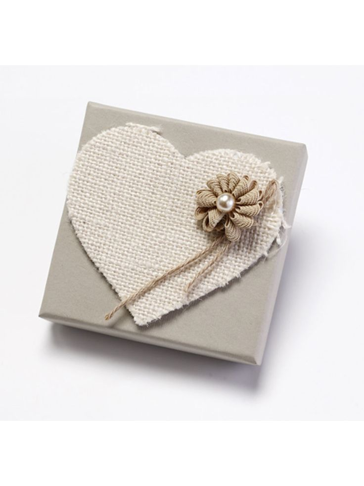 Handmade Heart Box wedding favor