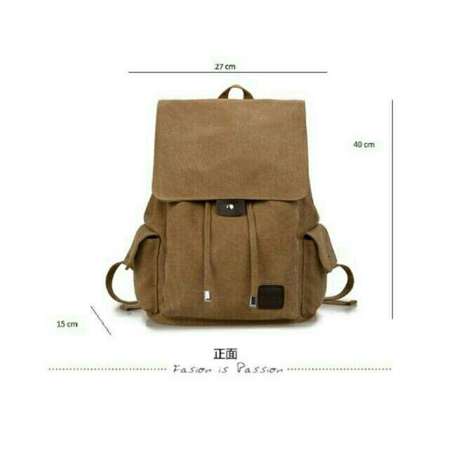 Temukan dan dapatkan Tas punggung import model korea warna khaki bahan kanvas bisa buat laptop fitness pria wanita hanya Rp 289.000 di Shopee sekarang juga! http://shopee.co.id/martinversa/10710776 #ShopeeID