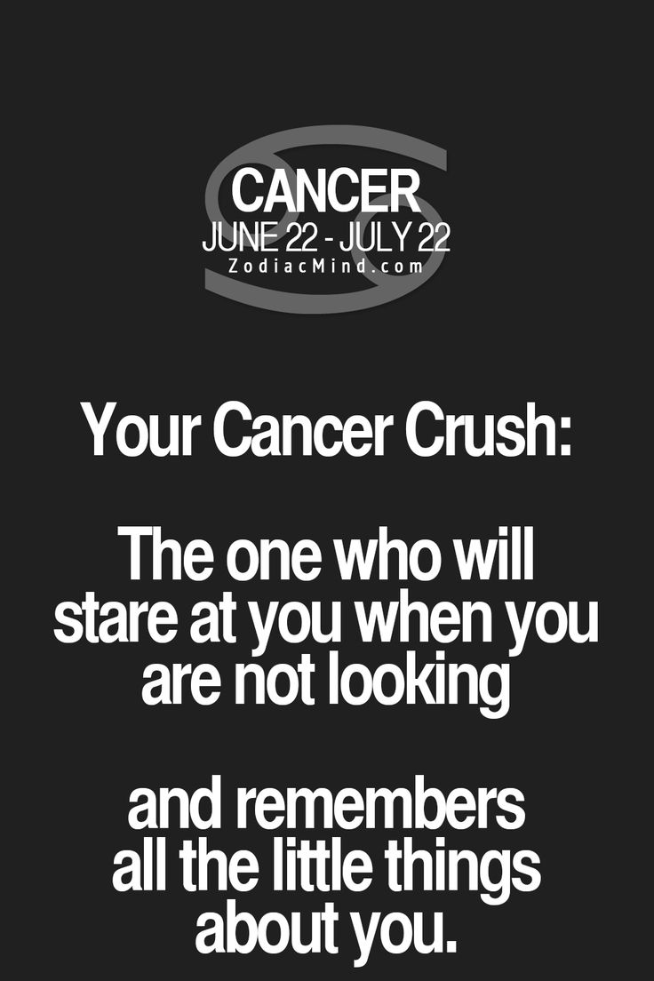 What is your crush's zodiac sign? Cancer ♋ Zodiac Sign