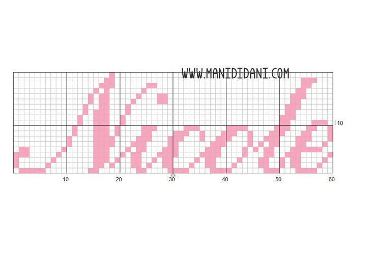 Schema free a colori per punto croce: Nicole   design by Mani di Dani