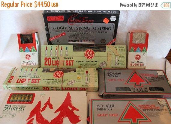 Summer Sun Sale 8 Sets of Vintage Indoor Christmas Lights