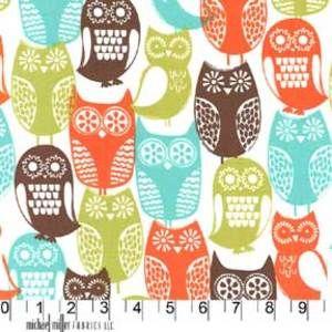 Michael Miller House Designer - Mod Prints - Swedish Owls in Brown