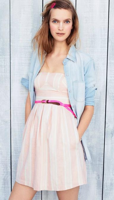 Madewell denim + dress