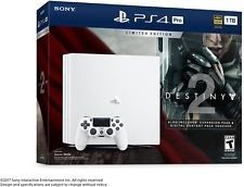 Sony PlayStation 4 Pro 1TB WHITE Destiny 2 LIMITED Edition PS4 Console Bundle