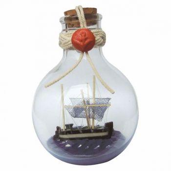 Maritmes Buddelschiff Kutter rund,stehend,als schöne Geschenkidee und für Sammler     KEINE VERSANDKOSTEN INNERHALB DEUTSCHLANDS!!