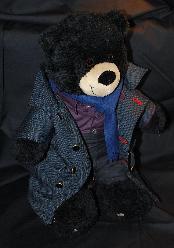 Sherlock Holmes teddy bear Sherlock BBC by ClockworkandCthulhu, $110.00