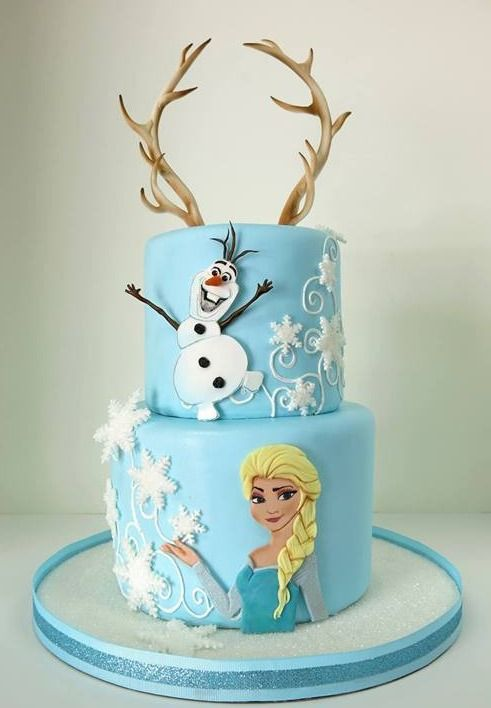 #Disney #Frozen #cake - For all your cake decorating supplies, please visit craftcompany.co.uk