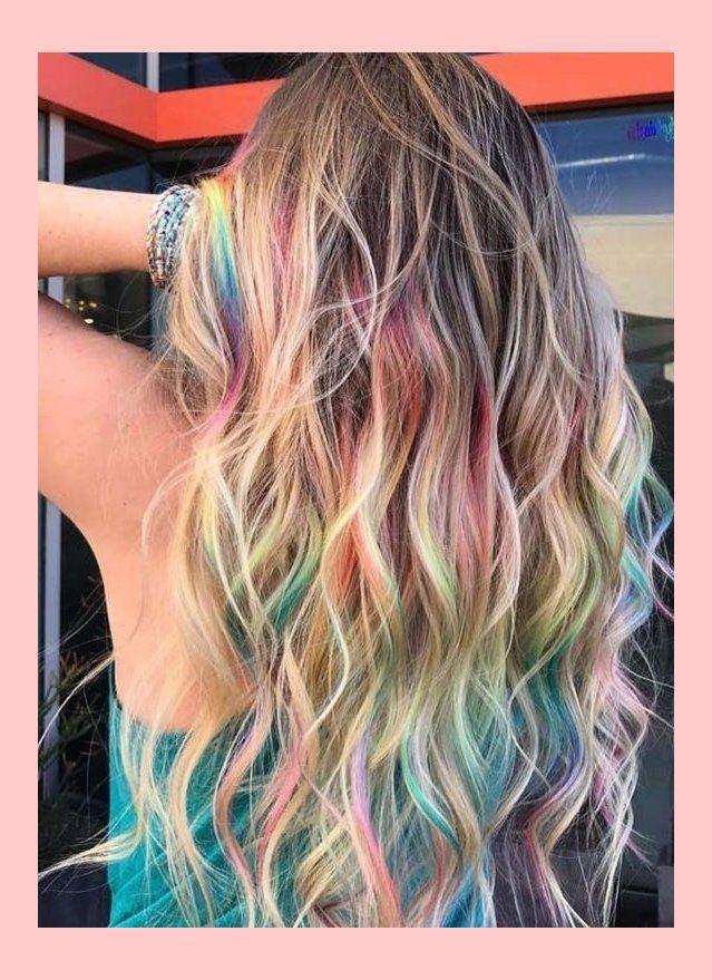 besessene arten der regenbogen-haarfarben, zum im jahr