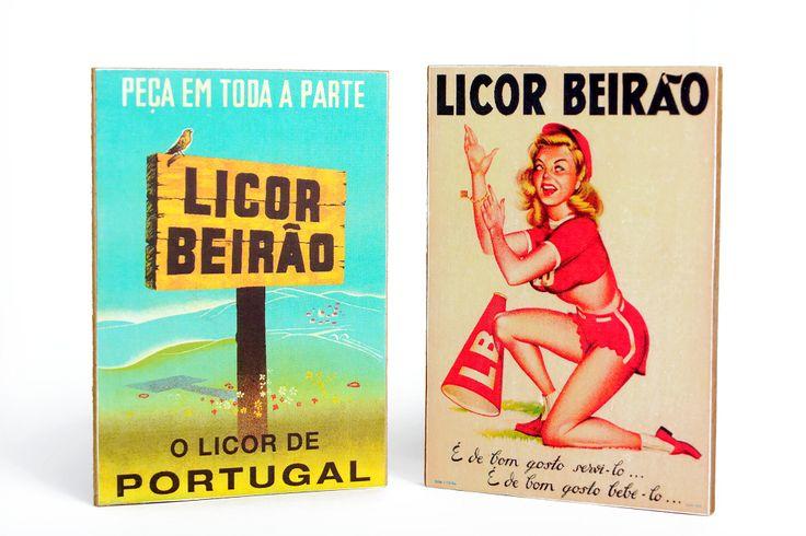Dois ícones da publicidade em Portugal. Dois ícones que marcam os anos 50 do século XX e a história do Licor Beirão. Dois ímanes com duas imagens míticas. Disp
