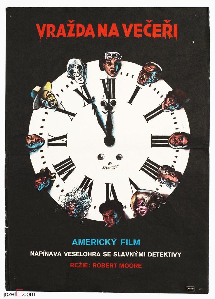 50% Movie Posters Sale £28.00 / Murder by Death, Poster design Karel Saudek, Made in Czechoslovakia, 1977.