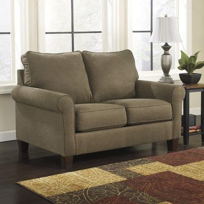 signature design by ashley zeth twin sleeper sofa u0026 reviews wayfair - Small Sleeper Sofa